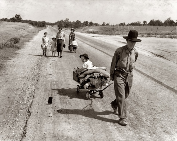 Homeless, Atoka County, Okla., 1938, by Dorothea Lange